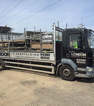 image of All London Scaffolding van